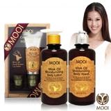 貂油護膚身體乳 MOOI黃金貂油尊寵肌膚禮盒組(300MLx2+40ML+2.2Gx2)