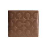 COACH 烙印C-LOGO防刮皮革零錢袋短夾-駝 FV7482900 (現貨+預購)