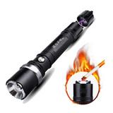 電弧脈衝點火 LED強光手電筒 / 擊破 聚光 防水 防風 露營 生火 附車架