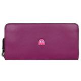 COACH PAC MAN聯名款小精靈拉鍊長夾-紫莓 FV5573600(現貨+預購)