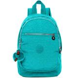 Kipling 簡約造型拉鍊開口尼龍後背包-藍綠 BP376100 (現貨+預購)
