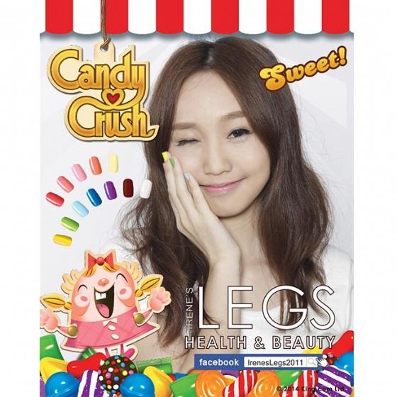 【Irene's Legs無毒指彩】Candy Crush B302 神秘糖 Mysterious Candy